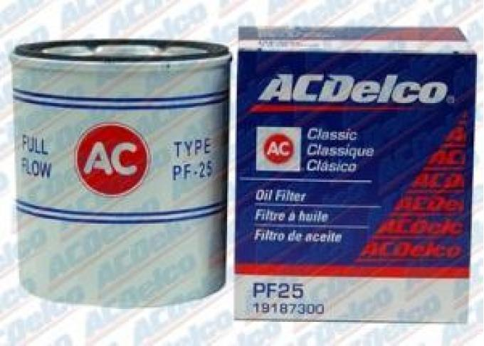 Corvette Oil Filter, PF25, AC Delco, 1968-1977