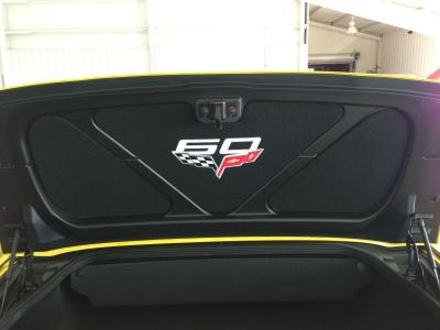 Corvette Trunk Liner, with C6 60th Logo, 2005-2013