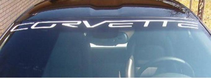 Corvette Windshield Decal, Black, 2005-2013