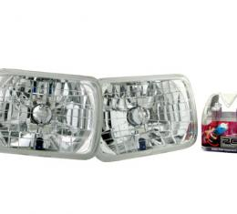 Corvette Headlamp Conversion Kit with Standard Halogen Bulbs, 1984-1996