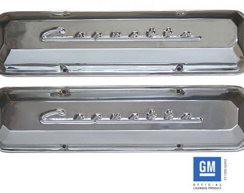 Corvette Valve Covers, Small Block, Aluminum, With Polished Finish, 1960-1982