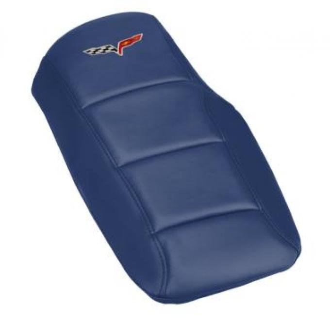 Corvette Console Cushion, with Embroidered C6 Logo, Lemans Blue, 2005-2013