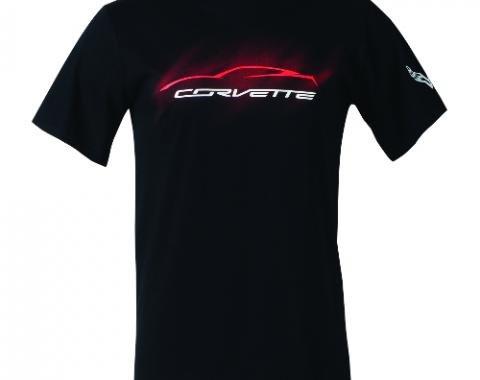 Corvette C7 Stingray Gesture Mist T-Shirt, Black