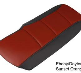 Corvette Console Cushion, Two-Tone, Ebony/Daytona Sunset Orange, 2005-2013
