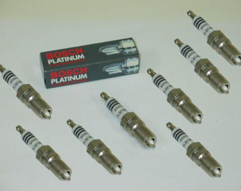 Corvette Bosch Platinum Spark Plug Set, Cast Iron Heads, 1976-1986