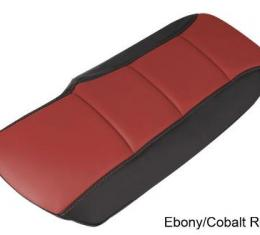 Corvette Console Cushion, Two-Tone, Ebony/Cobalt Red, 2005-2013