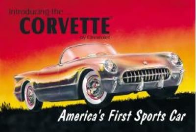 Corvette 53'  Tin Sign