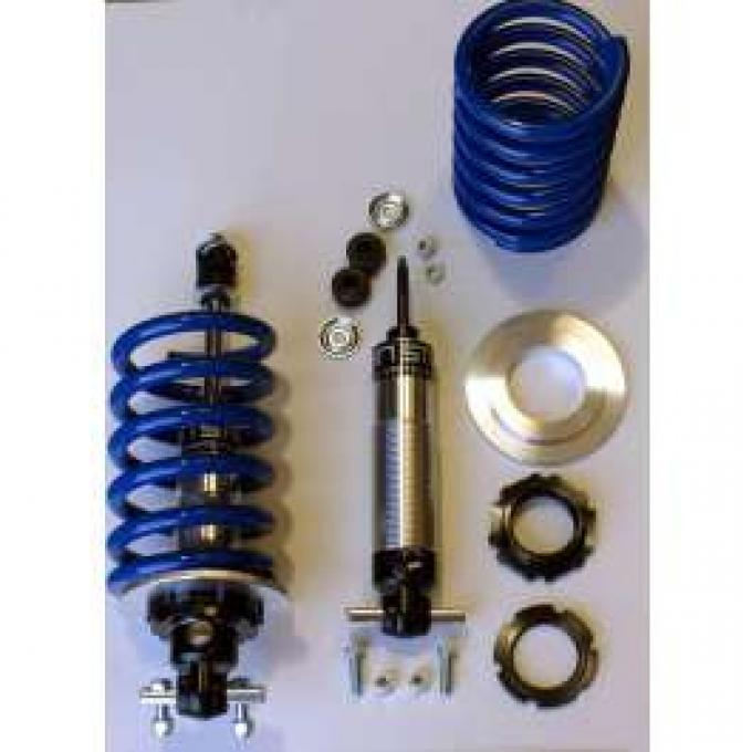 Corvette Coilover Shock Kit, Front, Small Block, Single Adjustable, 400 Lb. Spring, 1963-1982