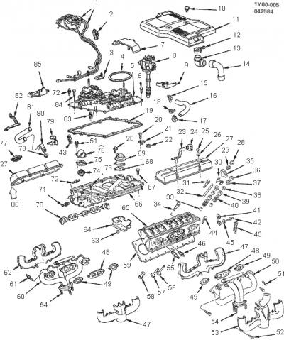 Corvette Spark Plug Wire Support to Valve Cover, Right, 1984