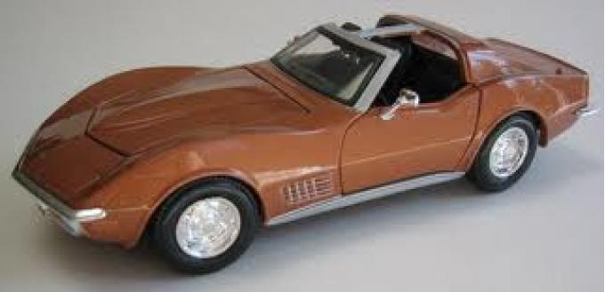 Corvette 1970 Coupe Bronze 1/24 Diecast