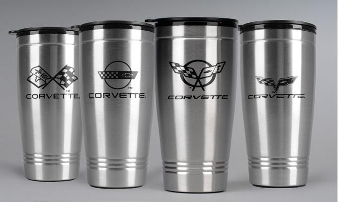 Corvette Stainless Travel Mug, C6 Logo