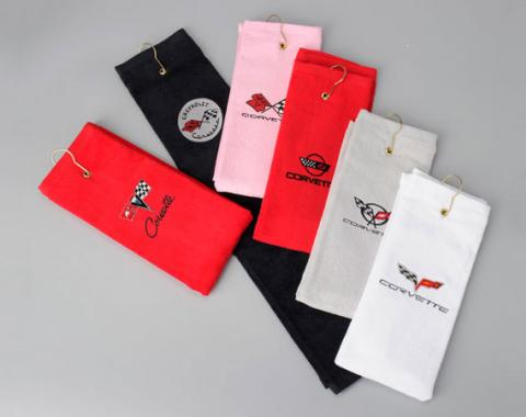Corvette Golf Towel, with Embroidered Emblem