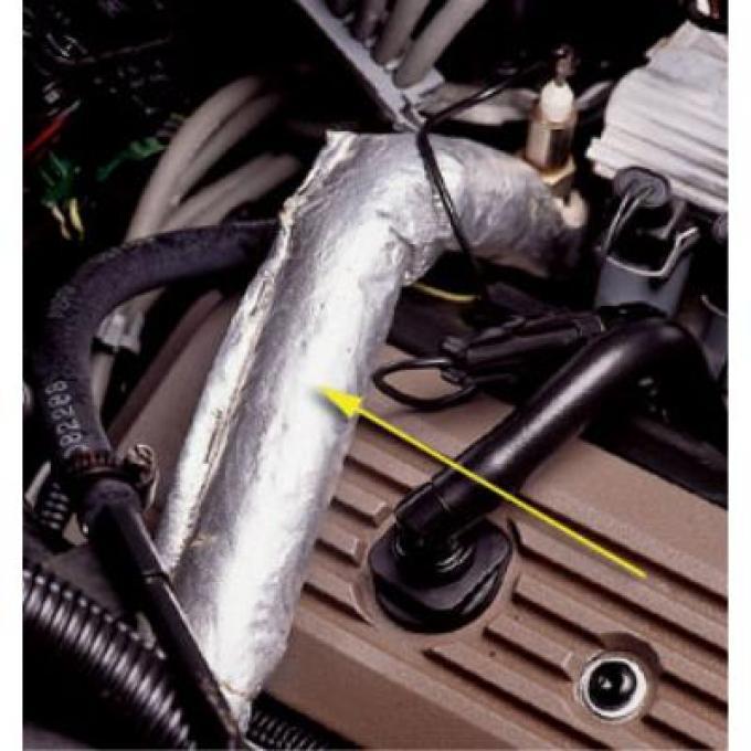 "Corvette EGR Pipe Heat Shield, 15"", 1985-1991"