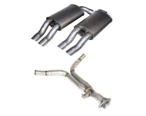 Corvette Rear Exhaust Y-Pipe With Mufflers, 1986-1991