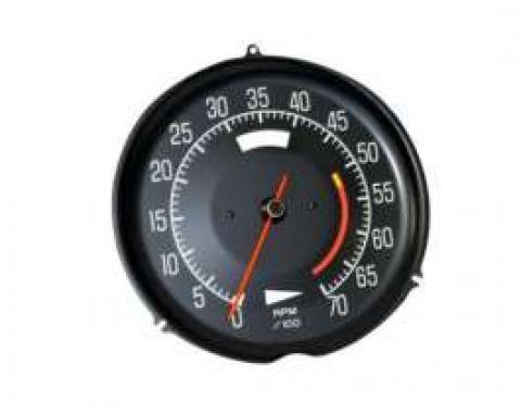 Corvette Tachometer, L48 5300 Red Line, 1975-1977