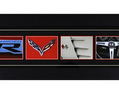 Corvette Word Art Framed Panorama