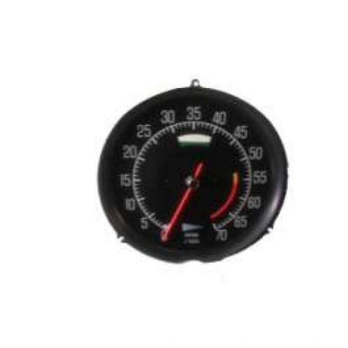 Corvette Tachometer, L82 5600 Red Line, With A/C, 1975-1977