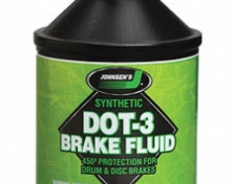 Brake Fluid, DOT 3 Synthetic, 12 Ounce