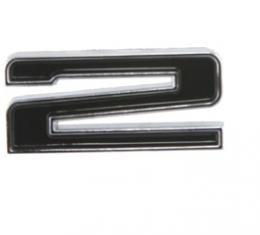 Corvette Hood Number Emblem, 2, 1967-1972