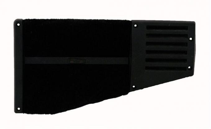 Corvette Rear Speaker Grille, Coupe Left, Black, 1988-1996