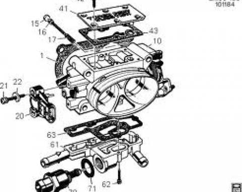 Corvette Throttle Body, 1985-1989
