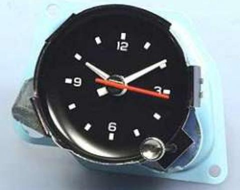 Corvette Reproduction Electric Movement Clock, New Factory, 1978-1979
