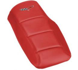 Corvette Console Cushion, with Embroidered C6 Logo, Torch Red, 2005-2013