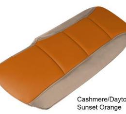Corvette Console Cushion, Two-Tone, Cashmere/Daytona Sunset Orange, 2005-2013