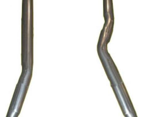 "Corvette Intermediate Exhaust Pipes 4 Speed, 2 1/2"", 1968-1979"