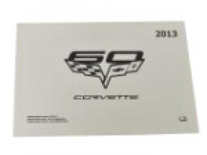 Corvette Owners Manual, 2013