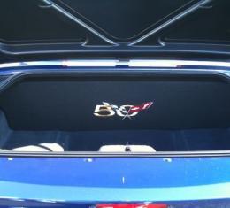 "Corvette Compartment Divider, With Carpet & 50th Logo, ""Quiet Ride"", 1999-2004"