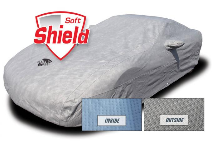 Corvette Car Cover Softshield, with Cable & Lock, 2014-2019 Except Z06