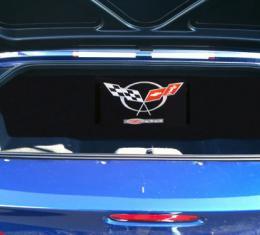 "Corvette Compartment Divider, With Carpet & Z06 Logo, ""Quiet Ride"", 2001-2004"