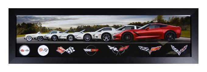 Corvette Generations Framed Panorama