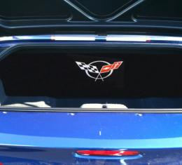 """Corvette Compartment Divider, With Carpet & C5 Logo, """"Quiet Ride"""", 1999-2004"""