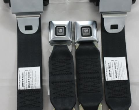 Seatbelt Solutions 1978-1982 Chevrolet Corvette Premium Single Retractor Seatbelts, Premium