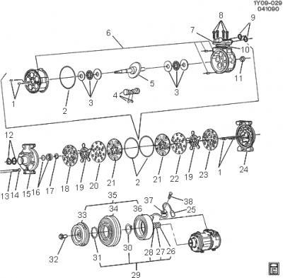 Corvette AC Compressor Coil Lead Connector (Except 94-96), 1990-2004