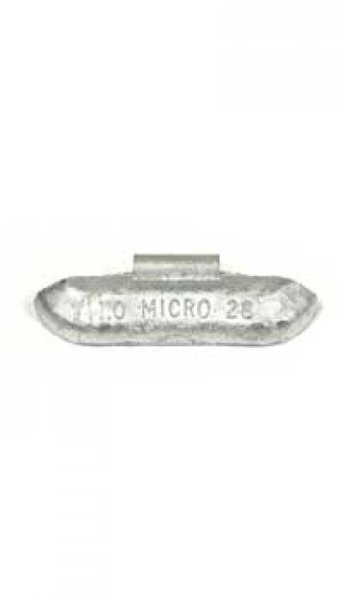 "Wheel weight w/""Micro"" logo, 1.00 oz"