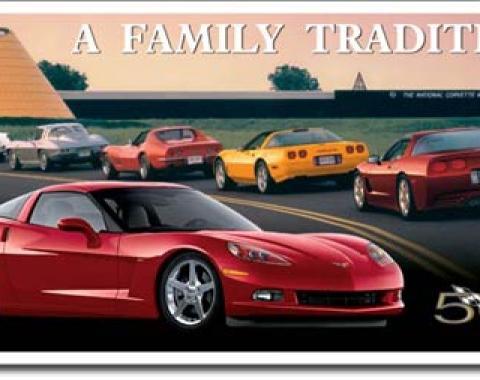 Corvette A Family Tradition Tin Sign