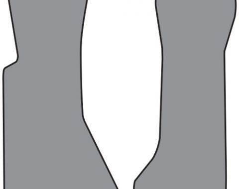 Corvette Floor Mats, 2 Piece ACC Cut Pile, Bronze (71), 1984-1987