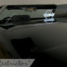 Windrestrictor for 1986-1996 Chevrolet Corvette Convertible | Standard / No Etching or Illumination / Smoke