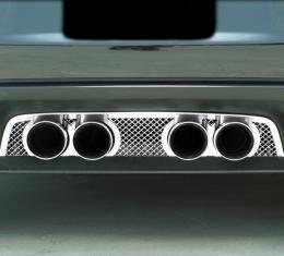 American Car Craft Chevrolet Corvette 2005-2013  Exhaust Filler Panel NPP Exhaust Laser Mesh 042006