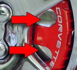 American Car Craft Chevrolet Corvette 1997-2004  Brake Pad Covers Polished 4-pc 032012