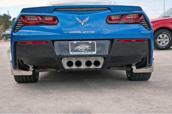 American Car Craft 2014-2019 Chevrolet Corvette Exhaust Filler Plate Perforated Stock System 052011