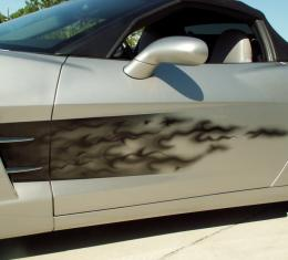 American Car Craft Chevrolet Corvette 2005-2013  Side Graphic Sport Fade Black Flame 042029