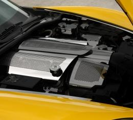 American Car Craft Chevrolet Corvette 2008-2013  Fuel Rail Covers Perforated Replacement w/cap C6 08-13 043051
