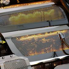 Corvette Fuel Rail Covers Replacement Style Perforated Illuminated 2006-2012 Z06 only 043088