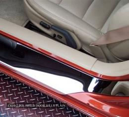 American Car Craft Chevrolet Corvette 2005-2013  Doorsills Polished Outer Plain No Ribs 041010