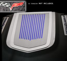 American Car Craft Chevrolet Corvette 2009-2013  Engine Shroud Cover ZR1 2pc Ribbed C6 Emblem (not included) 043077