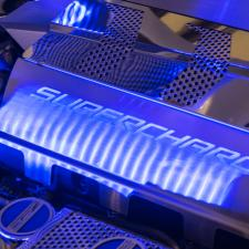 2015-2019 Z06 Stingray Corvette - Illuminated Fuel Rail Covers SUPERCHARGED - Choose LED Color 053089